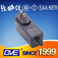 Guangdong 12V 1A GS Plug power adapter with 3 years warranty for Message Chairs