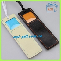 leather bookmark with photo frame
