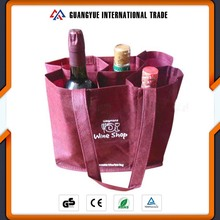 Guangyue China Goods Wholesale Reusable Recycle Shopping Wine Nonwoven Bag