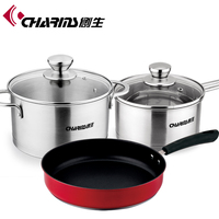 Wholesale cookware stainless steel products kitchen set