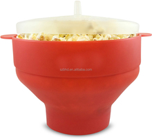 Amazon Hot Sale Foldable Silicone Microwave Popcorn Popper, Silicone Popcorn Popper