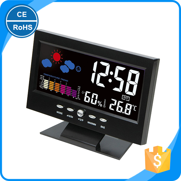 KH-0015 Hot Sale Calendar Temperature Desktop Digital Korean Clocks