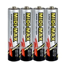 Carbon zinc 1.5V R03 AAA batteries cell UM-4 for ryobi battery aaa