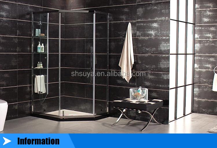 modern type custom design size sliding shower enclosure aquaspa deluxe shower screen with shelves amp towel rail