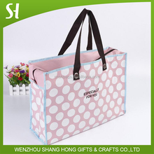 recycled tote bag/pp non woven shopping bag with zipper closure