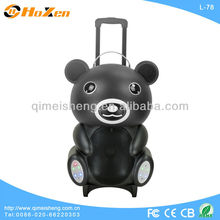 2013 Teddy Bear outdoor speaker with rechargeable battery,usb port,sd slot,fm,different colors for selection
