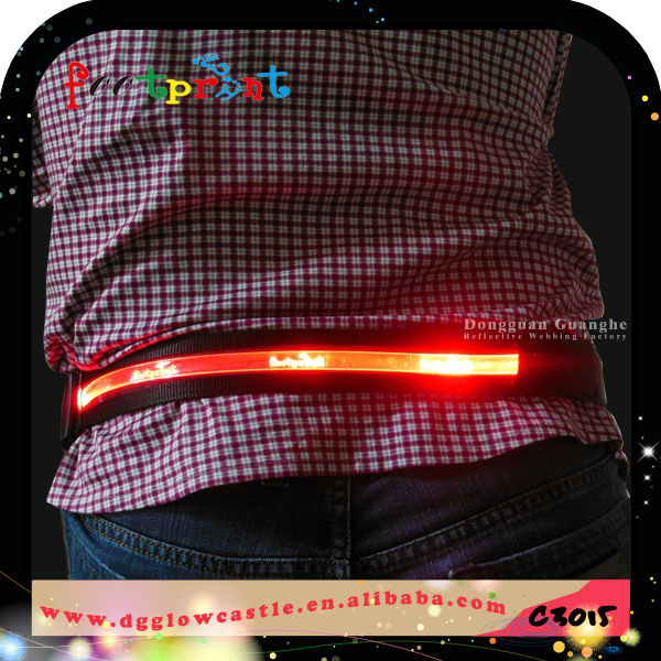 2017 outdoor camping mate light up belt with buckles