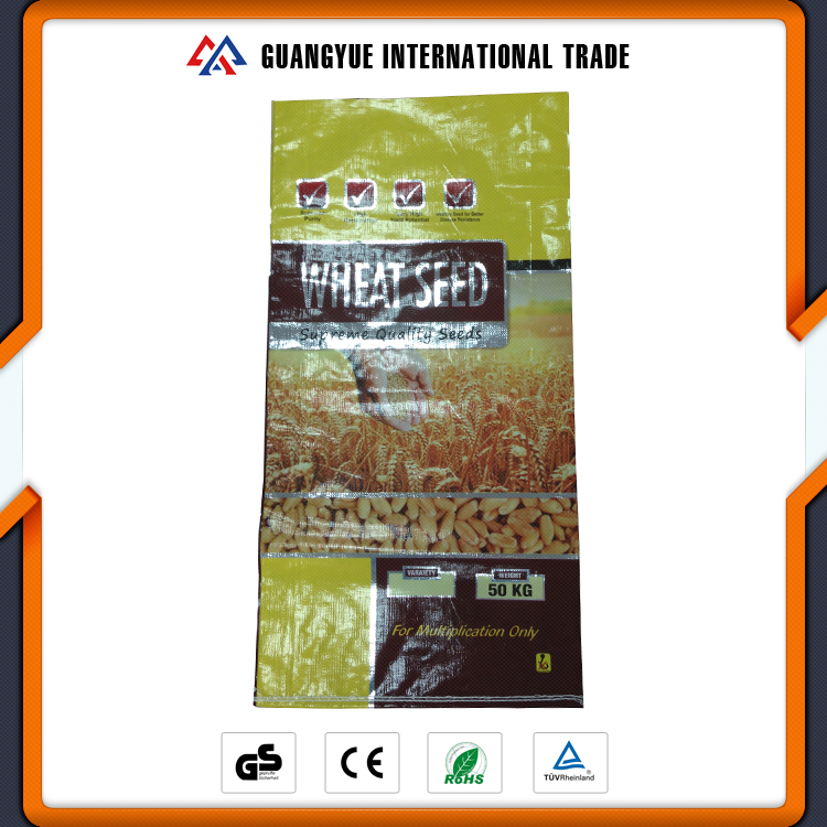 Guangyue Best Price 50KG PP Woven Laminated Corn Seed Packaging Bag