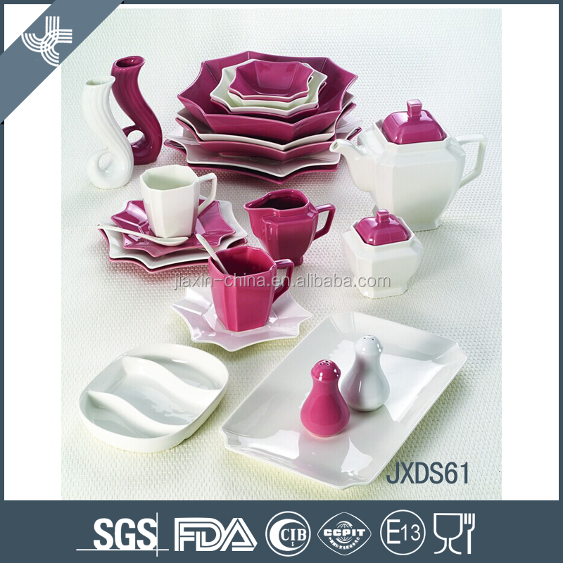 Wholesale 61pcs ceramic perfect professional made dinner other tableware