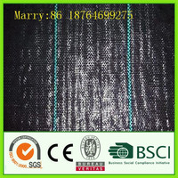 Black PP woven weed control mat for agriculture garden use