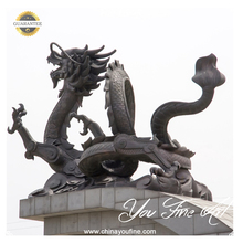 Outdoor Life Size Chinese Bronze Dragon Statue
