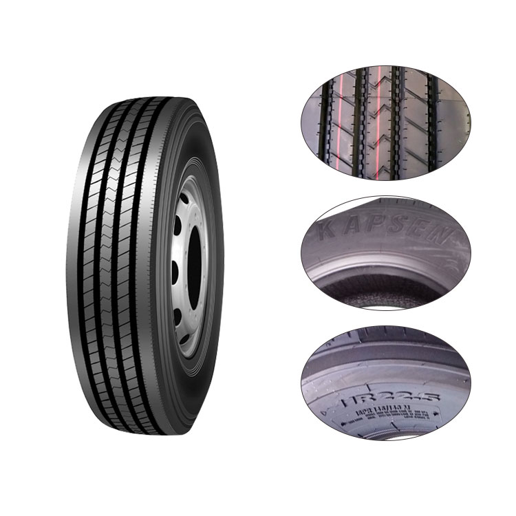 Tubless truck tire 285 / 75R24.5 Trailer truck tyres for long distance transportation