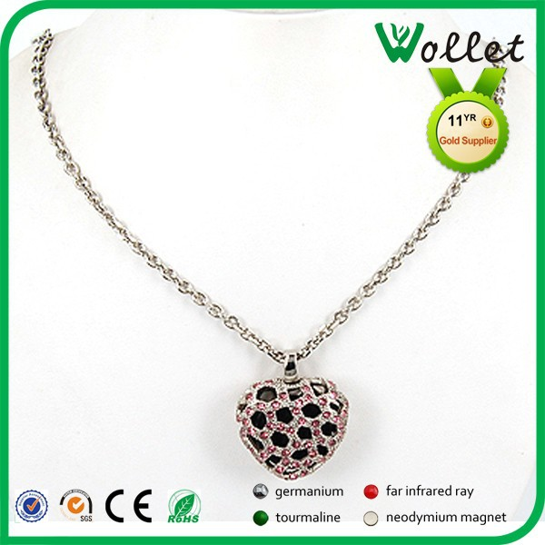 wollet heart design custom quantum scalar energy pendant