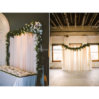 Church Wedding Aluminum Pipe And Drape With Sheer Voile Backdrops ...