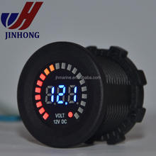 12V LED Blue Light Volt gauge <strong>Meter</strong> Plug for Car