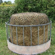 For Sale Automatic Galvanized or Powder Coated Horse Hay Bale Cattle Feeder