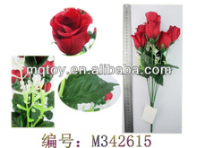 2014 Novetly 37 cm Seven heads artificial rose man-made flower new product Valentine's Day toy made in china