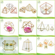 ::@ 2017 new wedding decor chinese factory price clear glass flower vase/clear plant container hanging geometric glass terrarium