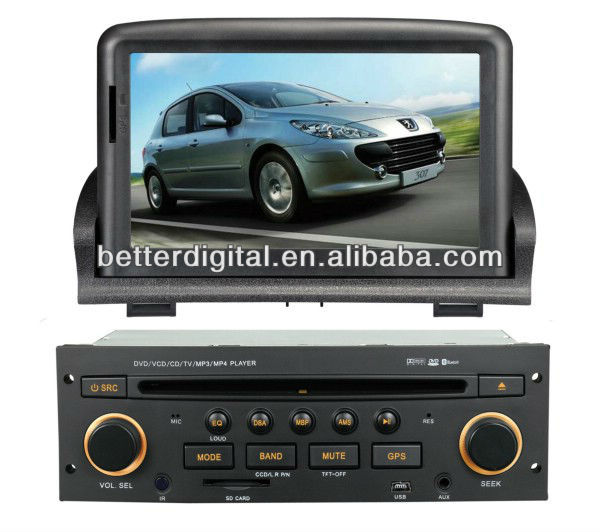 Double din car dvd gps for peugeot 307