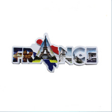 Europe Type Polyresin France Tourist Souvenir Letters Shape Fridge Magnet