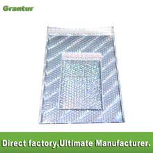 Customized size air bubble mailer bag padded plastic mailing bags shock resistant packaging bubble film wrap envelope