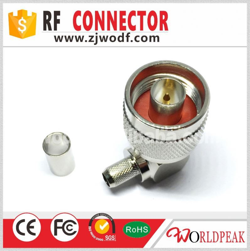 omni cycle N male type Right Angle 90 degrees crimp for LMR195 cable rf connector