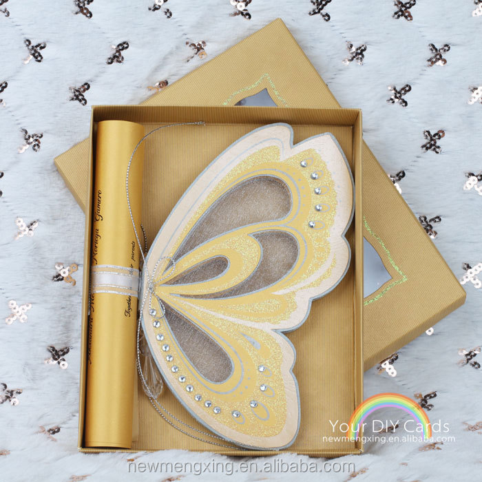 3d custom butterfly scroll wedding invitations 2015