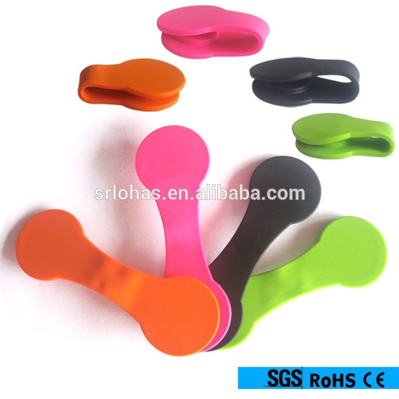 Wholesale magnetica silicone cable winder,magnetic phone stand,silicone magnet clips