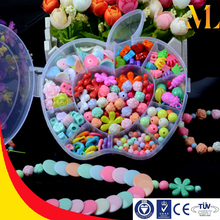 MLB11B DIY fun toys colorful children necklace and bracelets maker apple shape box kit