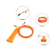 factory supply Adjustable Crossfit Steel Cable Wire Speed Jump rope