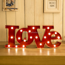 HEQU Metal Wedding Decoration Battery Operated Love Sign Marquee Led Light