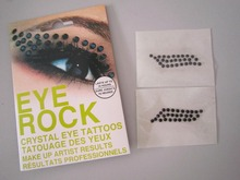 Fashion Jewellery Eyeline Tattoo rhinestone eyes sticker Acrylic eye sticker