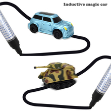 Pre-school Vehicle Educational Toy Mini Tank Bus Follow Any Drawn Line Magic Pen Inductive car Toys