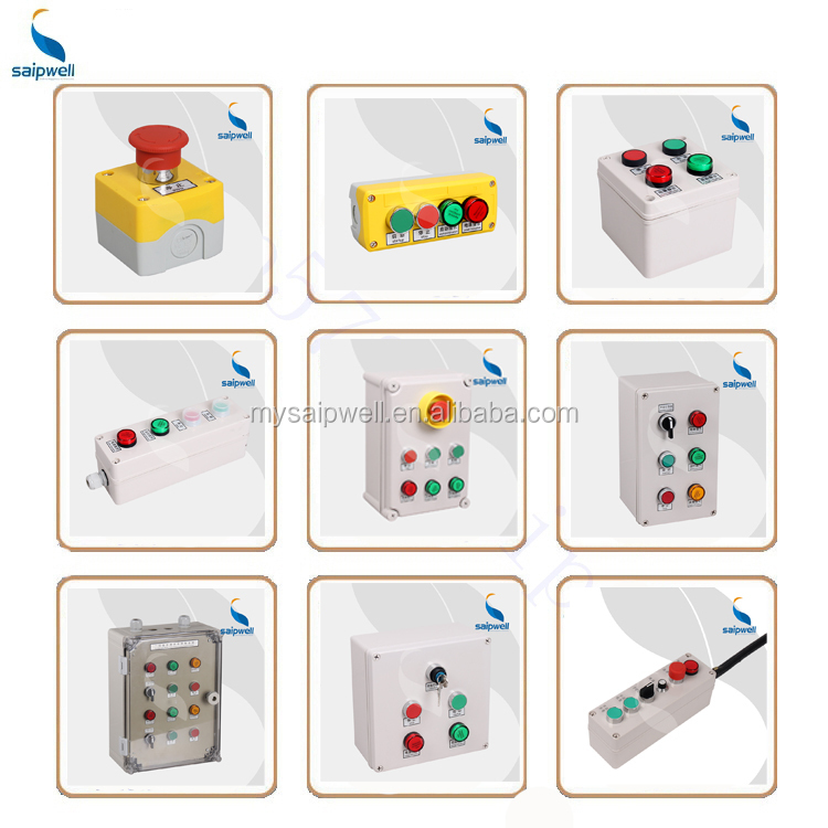 SAIP/SAIPWELL Customized Handheld IP65 Electrical Waterproof Pushbutton Control Box