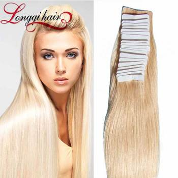 Hot Sale Blond Tape Weft Hair Extension