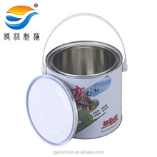 2.5L Round Tinplate Pail with handle,empty pail
