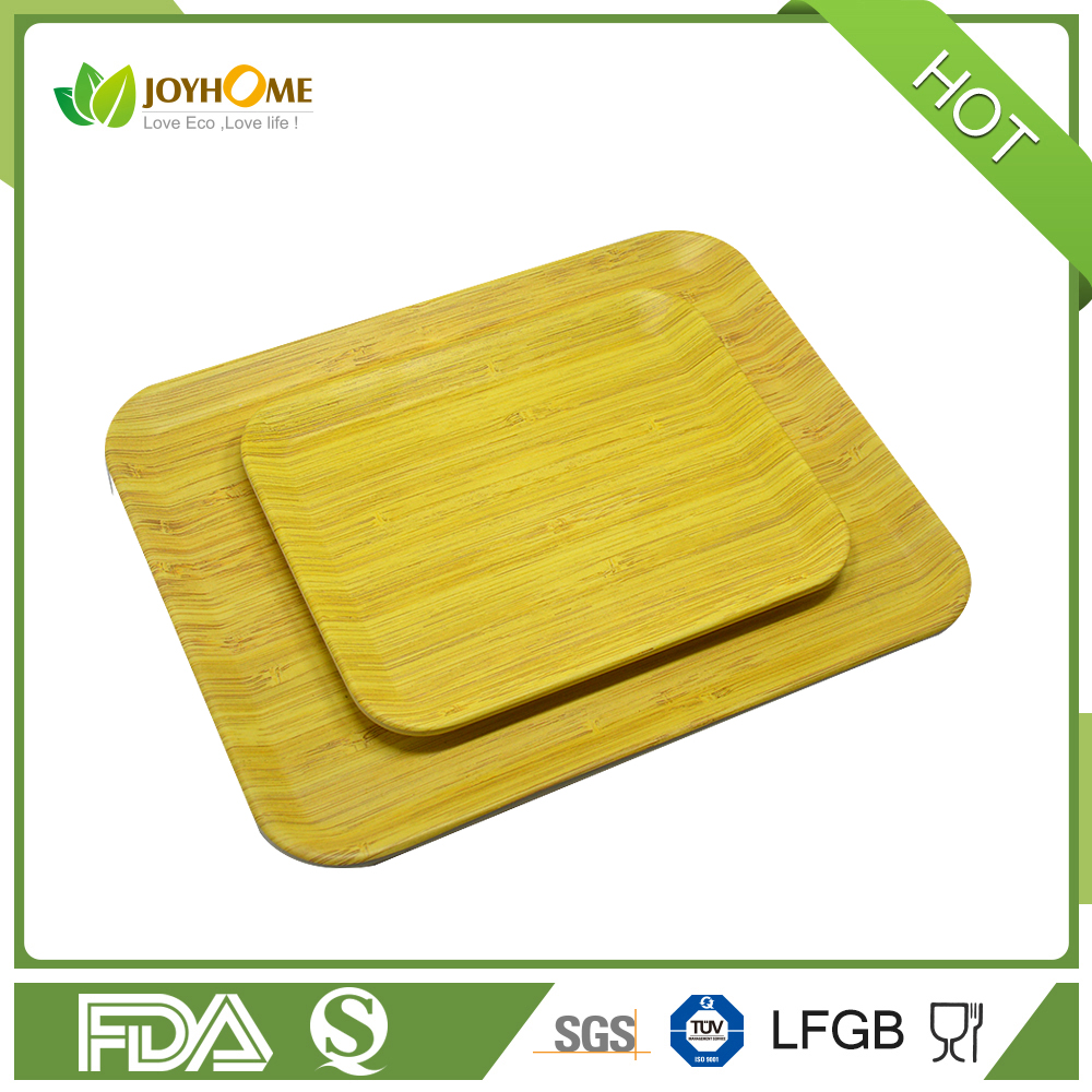 Paris Printing Bamboo Fiber Melamine Turkish Serving Tray