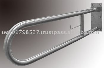Stainless hinged rail