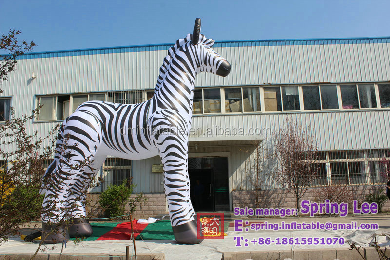 6-10m customized inflatable zebra , 3D design inflatable replica