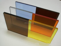 Coloered plastic glass acrylic sheet