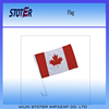 High quality custom print canada car flag Hot sale promotional 150th Anniversary canadian car window flag with plastic pole