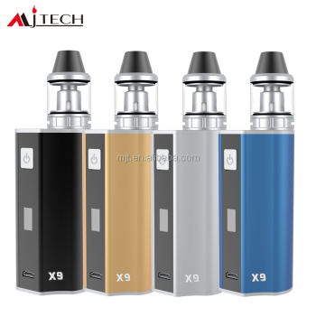 USB Rechargeable full Function E-cig OLAX X9 A Starter Kit Support 2200mAh 18650 Battery