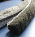 Soundproof window hardware brush pile weather strip