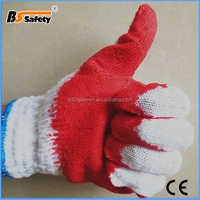 BSSAFETY 10g red liner latex rubber hand gloves