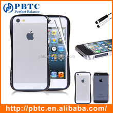 Wholesale Cheap Mobile Phone Bumper Cover Case For iPhone 5 / 5S , Custom Metal Bumper Case , Cell Phone Aluminum Bumper Case