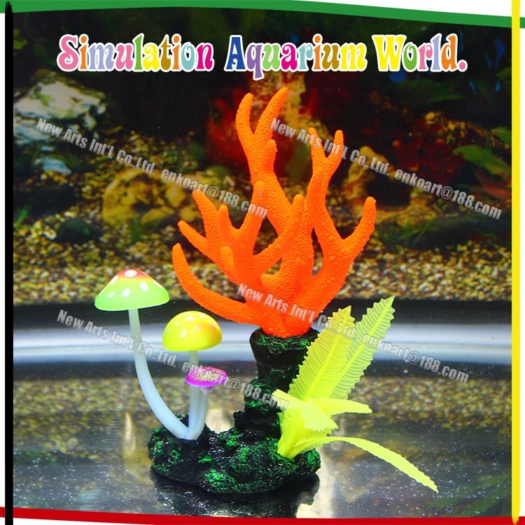 Asian artificial silicone coral reef aquarium decoration for Artificial coral reef aquarium decoration