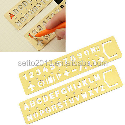 Metal Template Ruler Drawing Stencil Kids Stationery DIY Tool