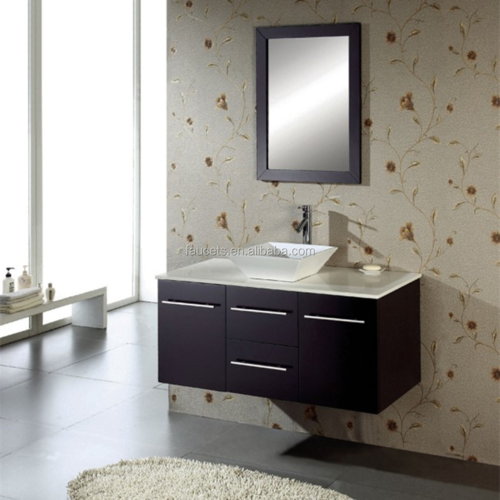 Modern Series Wall Mounted Expresso Finished Bathroom Vanity