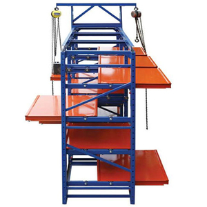 warehouse colourful heavy duty drawer racks systems