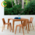 All weather outdoor garden wicker dining furniture